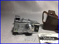 Steky Mini Spy Camera (For 16mm Film) Vintage WithLeather Case (13.5/F-2.5mm)