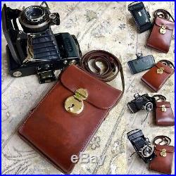 Superb Antique Zeiss Ikon Compur Rapid Camera With Hand Stitched Leather Case