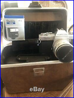 Topcon Unirex Camera Comes With 5 Lenses And Leather Carrying Case