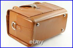 UNUSED Nikon FB-11A Compartment Brown Leather Carry Hard Case Box JAPAN