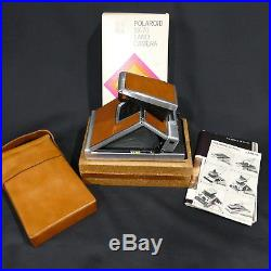 Used Vintage Polaroid SX 70 Instant Land Camera Original Tan Leather Case & Box
