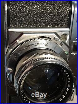 VERY NICE VOIGTLANDER PROMINENT CAMERA AND NOKTON LENS- Leather case