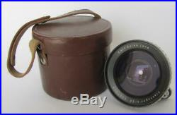 VINTAGE CARL ZEISS JENA 4 /20 PHOTO CAMERA OBJECTIVE LENS withLEATHER CASE