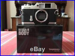 VOIGTLANDER BESSA-R Fotocamera Analogica Camera Body BOXED + LEATHER CASE NEW