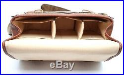 Very Clean System Case Aneas For Leica, Size M, Brown Leather WithBox 18796 #30475