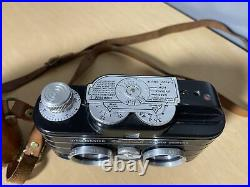 View Master Personal 3d Stereo Camera Anastigmat 25 MM Lenses & Leather Case