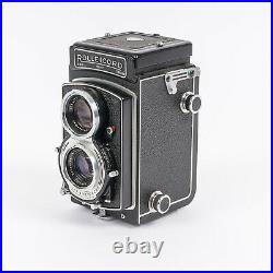 Vintage 1950s Rolleicord V TLR 6x6 Camera with Leather Case & Manual