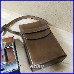 Vintage 70s Polaroid SX-70 Land Camera With Leather Case