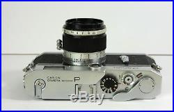 Vintage Canon-P Rangefinder Camera in Leather Case with f2.8 Lens & Accessories
