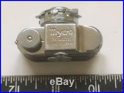 Vintage Collectible Mycro Subminiature Spy Camera Leather Case Sanwa Co. Japan
