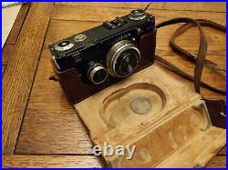 Vintage Contax Zeiss Ikon Dresden Camera In Leather Case