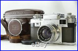 Vintage Contax llla (3A) Zeiss Ikon 35mm Camera with Asis Leather Case Japan #2115