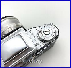 Vintage Exacta Varex IIa 35mm SLR Film Camera With 50mm F2.8 And Leather Case
