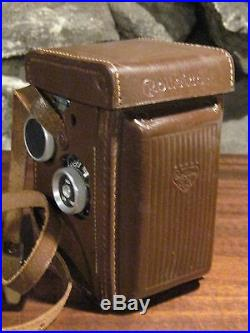 Vintage Germany Rolleicord camera with leather case mint