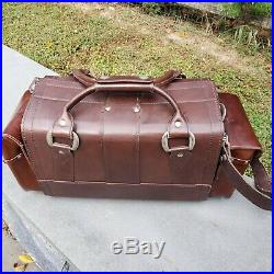 Vintage Leather Leica Camera Bag / Case / System for Multiple Cameras and Lens