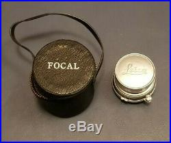 Vintage Leitz Summaron 35mm f/3.5 Lens for Leica Camera with Leather Case, Cap