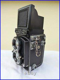 Vintage Minolta Autocord Camera & Leather Case & Strap 75mm Lens Working