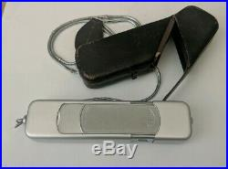 Vintage Minox B Spy Camera (Complan Lens 13.5 f=15mm) with Leather Case & chain
