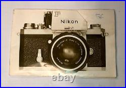 Vintage Nikon F Series Camera With Attachments And Leather Case