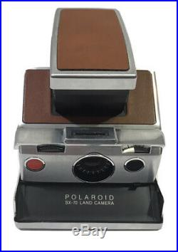 Vintage POLAROID SX-70 LAND CAMERA with Original Divided Leather Case & Catalog