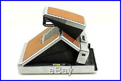 Vintage Polariod SX-70 Folding Land Camera with Tan Brown Leather Case Untested