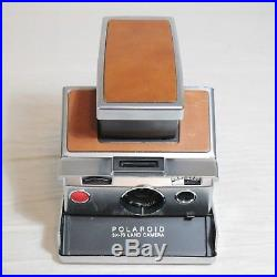Vintage Polaroid Folding SX-70 Instant Camera with Leather Case Top Grain Made USA