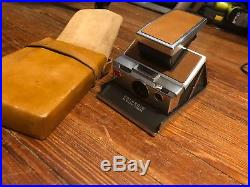Vintage Polaroid SX-70 Alpha 1 Land Camera and Leather Case! Tested and Working