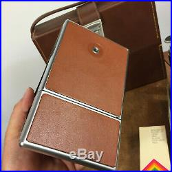 Vintage Polaroid SX-70 Land Camera Alpha 1 Leather Case Papers 70s Atomic Mod