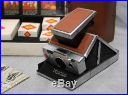 Vintage Polaroid SX-70 Land Camera and Accessory Kit with Leather Case