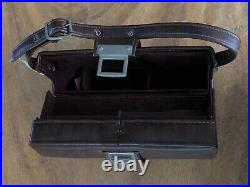 Vintage Polaroid SX-70 Land Camera with Custom Brown Leather Case Tested