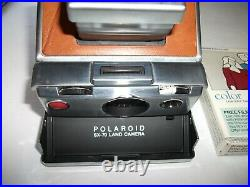 Vintage Polaroid SX-70 Land Camera with Leather Case & Unopened Film Dated 02/89