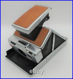 Vintage Polaroid SX-70 Land Instant Folding Camera with Leather Case Untested