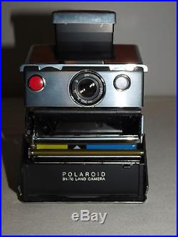 Vintage Polaroid Sx-70 Land Camera In Leather Case Tested Works Great