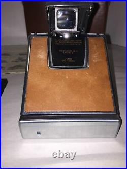 Vintage Polaroid Sx-70 Land Camera With Leather Case Film Manual / Booklet
