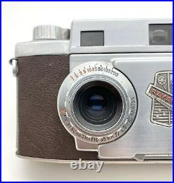 Vintage Revere Stereo 33 Camera, 35mm 3.5 Dual Lens With Original Leather Case