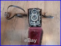 Vintage Rolleiflex Camera In Leather Case