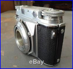 Vintage Voigtlander Prominent Camera With Dynaron Lens and Leather Case