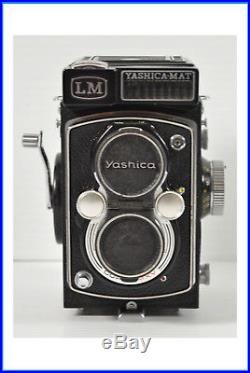 Vintage YASHICA-MAT LM Film Camera 13.5 Yashinon F=80mm Lens With Leather Case