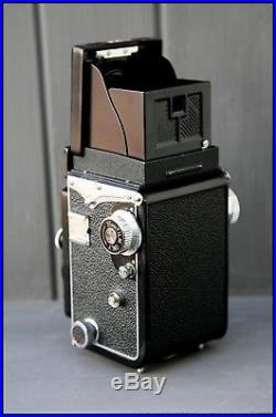 Vintage Yashica 635 Twin Lens TLR Camera + Full Leather Case