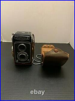 Vintage Yashica A Camera With Leather Case