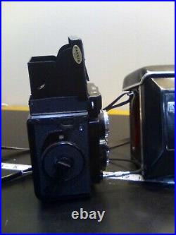Vintage Yashica Mat-124G Format Camera Leather Case an shutter remote button S10