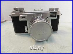 Vintage Zeiss Contax Ikon Camera with Sonnar 11.5 f=50mm Lens with Leather Case