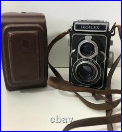 Vintage Zeiss Ikon Ikoflex Camera 13.5 f=75mm with Original Leather Case