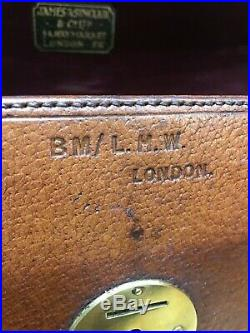 Vintage leather james sinclair camera box / case ideal for jewellery or trinkets