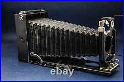 Voigtlander Bergheil Camera 9x12 folding with leather case and plate holders