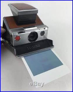 Vtg Polaroid SX-70 Land Camera withLeather Case Tested & Works