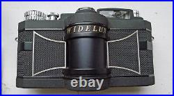 Widelux F7 35mm Ultra Wide Angle Panoramic Camera Works Great Leather Case