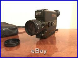 Working Canon 514xl Super 8 Camera With Original Leather Case