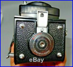 YASHICA-MAT vintage camera Copal MXV with leather case, 3 rolls Fujifilm bundle