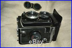 Yashica LM TLR Medium Format Camera and Leather Case & Manual Winter Sale
